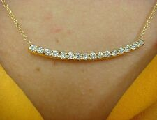 0.65 CT T.W. DIAMOND BAR NECKLACE 14K YELLOW GOLD 18 INCH LONG
