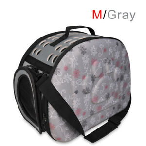 Pet Travel Carrier Bag Folding Portable Mesh Pet Cage Airline Approved Pet  SUP