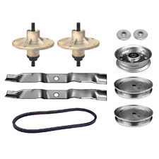 """42"""" Deck Rebuild Kit For Murray Riders Spindle Blades Belt Pulleys Adapters"""