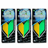 3 PACK Wakaba Japan Treefrog Young Leaf Black Squash Scent JDM Air Freshener