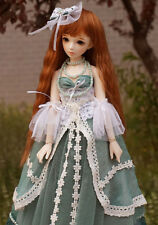 "New  1/8 Girl BJD SD Doll Wig Dollfie 5-6"" DZ DOD LUTS Big Baby Bjd Doll Wig"