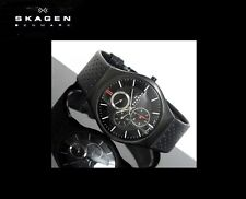 SKAGEN MEN'S ULTRA SLIM TITANIUM DENMARK BLACK WATCH 806XLTBLB