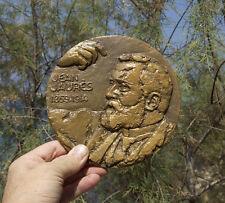 France, JUARES, medallion 170mm, statesman, pacifist, socialdemocrat