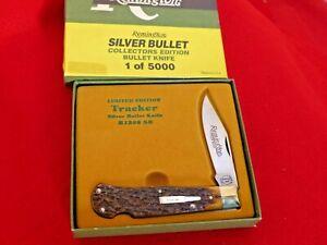 Remington USA bone R1306 SB lockback silver bullet knife MIB ld