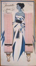 French Ladies' 1930s Suspenders on Original Card/Package