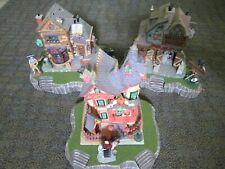 Halloween Village Display Platform Base Set Of 3 For Lemax Dept56 Dickens + More