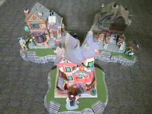 Halloween Village Display Platform Base Set Of 3 For Lemax Dept56 Dickens + More