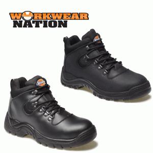 Dickies Fury Safety Hiker Work Boot, Black/Oiled Matte Leather, Steel Toe