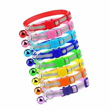 Mtliepte 8 Pcs Cat Reflective Collars Breakaway with Bell Nylon Colorful Adju.