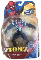 Marvel Spider-Man Super Villain Venom w Jaw Slash 2008 Action Figure NEW Hasbro