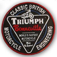 TRIUMPH BONNEVILLE Motorbike Sign Cast Iron Vintage Style Advertising 24cm