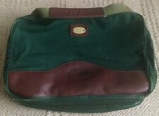 Vintage ORVIS Battenkill Green Canvas Brown Leather Travel Luggage messenger bag