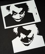 El Joker Face El Caballero Oscuro Aerógrafo Pintura Mylar Plantilla Reutilizable para obras de arte