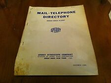 1965 Mail Telephone Directory Great Neck New York Plant Sperry Gyroscope Company