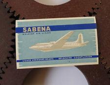 Etiquette Bagage Compagnie Aérienne Sabena Airlines Label Luggage Label