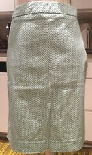 The Limited Turquoise Geometric Skirt. Lined. 12