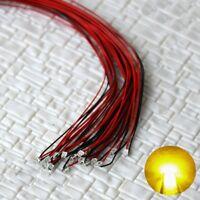 S1150 - 10 Stück SMD Blink LEDs 0805 gelb blinkend mit Kabel Microlitze