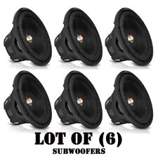 "Lot of (6) NEW Lanzar MAXP64 6.5"" 1200W Small Enclosure 4 Ohm 600W Subwoofers"