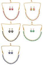 Jwellmart Indian Bollywood Wedding Gold Polish AD CZ Necklace Set Free Shipping