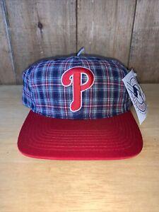 Vintage Philadelphia Phillies Snapback Hat Cap NWT Plaid MLB Baseball