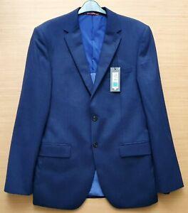 "MARKS & SPENCER Mens Blue Wool Suit Jacket Size 40"" Chest Long MRRP £115-00"