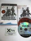 PS2 Metal Gear 2 subsistance 1ªedicion 2 discos Pal España completo no platinum