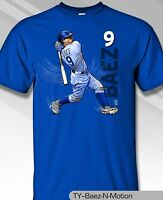Chicago Cubs MLBPA JAVIER BAEZ #9 Baez N Motion Men's Cotton Tee Shirt Blue