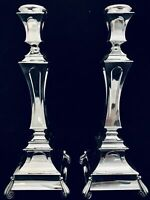 MODERN  925 STERLING SILVER  CANDLESTICKS BY HADAD ~ 15.5""