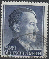 Stamp Germany Mi 802 Sc 527 1941 WW2 Fascism Hitler Head Used