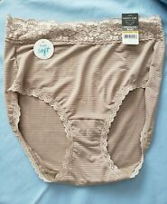 New listing 7/L- VANITY FAIR flattering lace brief panties- toasted coconut- NWT style 13281