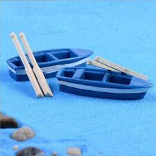 Boat With Paddles Figure Mini Fairy Garden Aquarium Fish Tank Statue Resin Craft
