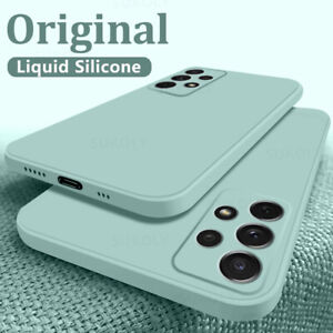 Liquid Silicone Case For Samsung Galaxy S21 Ultra S20 Plus A72 A52 A32 A51 Cover