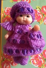 *KNITTING PATTERN* FOR 5 INCH BERENGUER OR SIMILAR DOLL OUTFIT USES DOUBLE KNIT