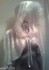 SNOW QUEEN. WHITE WITCH. MINI HOODED CAPE