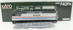 Kato 37-6551 HO Amtrak EMD F-40PH Diesel Locomotive #375 LN/Box