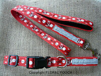 Medium Dog Collar and Lead Sets by Floral Pooch Minnie Mouse Floral Cath Kidston