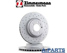 Zimmermann 2X Disco Freno Ø300 Perforado Trasero BMW 1ER 3ER E90 Z4 Performance