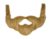 Brown Redneck Beard with Mustache & Sideburns Costume Accessory
