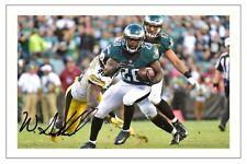 Wendell legname minuto Philadelphia Eagles firmato Foto Autografo Stampa NFL Football