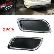1Pair Car SUV Fake Decorative Tail Throat Exhaust Muffler Pipe Chromium Plating