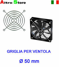 GRIGLIA VENTOLA Ø 50mm FAN SILVER GUARD PC CASE FANGRILL PROTEZIONE HOBBY RC TOY