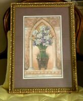 HOME INTERIORS Spring Flowers  Arch Flowers Gold Framed Stunning
