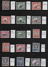 Kenya Uganda and Tanganyika 1938 KGVI Pictorials - SS to 5/- details below - MLH