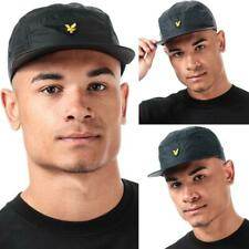 Accessories Mens Lyle And Scott Ripstop 5 Panel Cap in Blue, Grey, and Black