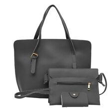 4pcs Women Leather Handbag Lady Shoulder Bag Tote Purse Messenger Satchel Set CA
