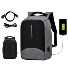 "15"" Anti-Theft Men's Laptop Backpack Waterproof USB Charge Travel School Bag"