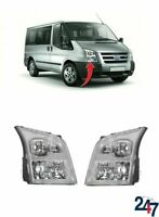 FRONT HEADLIGHT LAMP SET LHD COMPATIBLE WITH FORD TRANSIT TOURNEO 2006-2013