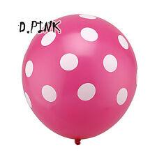 10Pcs Pink Polka Dot Baloons BALLOONS helium Ballons Birthday Wedding Annivers