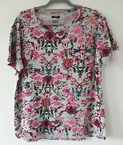 BONDS Cotton Polyester Short Sleeve Floral T Shirt Sz XL EUC
