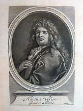 Gravure sur cuivre NICOLAS VERRIEN graveur à Paris 1685 VERIEN Gérard Edelinck